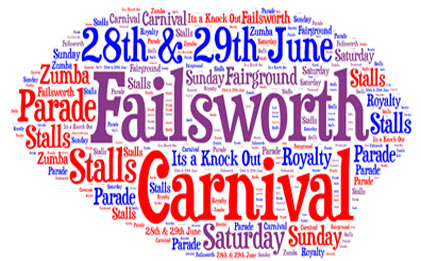 Come and join us on Saturday 28th June 2014 to watch the Failsworth Carnival Parade. We will be open from 12.45pm.