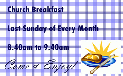 Join us on the last Sunday of every month for Breakfast <br /><br />